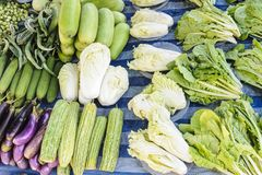 Fresh organic vegetables on local market. Royalty Free Stock Image