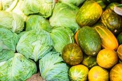 Vegetables at market. Fresh organic vegetables in outdoor market Stock Images