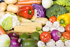 Fresh organic vegetables ready to be used Royalty Free Stock Photo