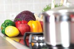Fresh Organic Vegetables ready to prepare Stock Photos
