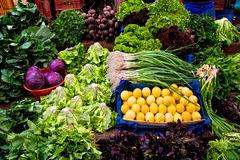 Fresh Organic Vegetables At A Street Market Stock Photography