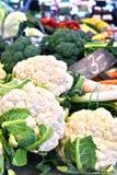 Fresh organic vegetables on street market stall Stock Image
