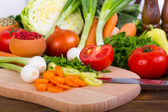 Fresh, organic vegetables Stock Photography