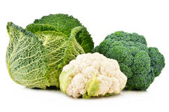 Fresh organic vegetables on white Royalty Free Stock Images