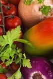 Fresh organic veggies for salad Royalty Free Stock Images