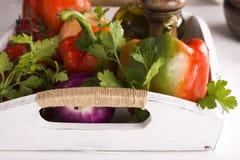 Fresh organic veggies for salad Stock Image
