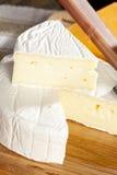 Fresh Organic White Brie Cheese Stock Photography