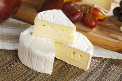 Fresh Organic White Brie Cheese Royalty Free Stock Photography