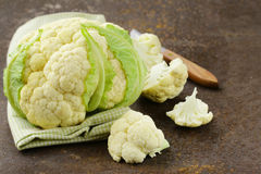 Fresh organic white cauliflower Royalty Free Stock Photo