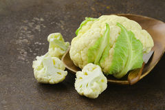 Fresh organic white cauliflower Stock Photography
