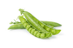 Fresh organic young peas Royalty Free Stock Photos