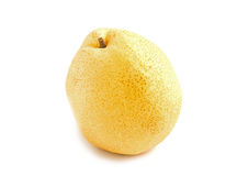 Fresh oriental pear on white background Royalty Free Stock Photo
