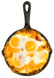 Fresh Oven Baked Eggs with Sausage and Cheese Royalty Free Stock Image