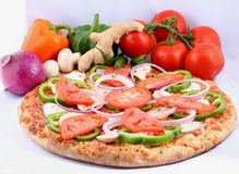 Fresh oven baked piza. Fresh oven baked pizza for lunch stock image