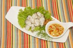 Fresh  oyster decoration. On dish Royalty Free Stock Image