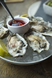 Fresh oyster on ice Royalty Free Stock Photos