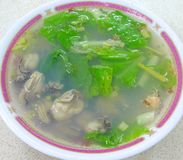Fresh oyster meal. Preparing for client in Taiwan Stock Photos