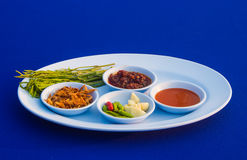 Fresh oyster side dishes. Filled with garlic,chilli,sauce and vegetable Stock Image