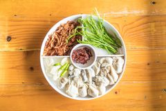 Fresh oyster with vegetables. On plate Royalty Free Stock Photography