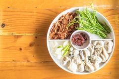 Fresh oyster with vegetables. On plate Royalty Free Stock Photos