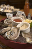 Fresh oysters 2 royalty free stock photography