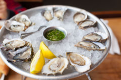 Fresh oysters Stock Photo
