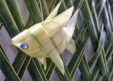 Fresh Palm leaf fish  weaving Stock Photography