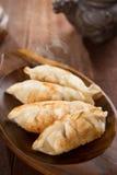Fresh pan fried dumplings Royalty Free Stock Photos