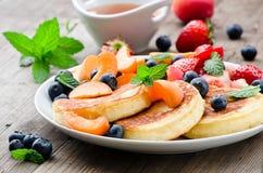 Fresh pancakes Stock Photo