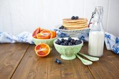 Fresh pancakes for breakfast Stock Image