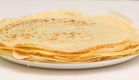 Fresh pancakes close-up Royalty Free Stock Image