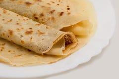 Fresh pancakes details Royalty Free Stock Photos
