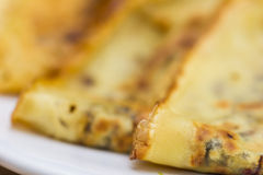 Fresh pancakes on plate Stock Photos