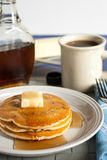 Fresh Pancakes and Syrup Stock Image