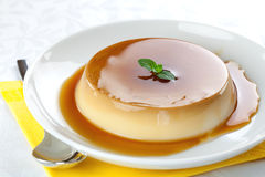 Fresh panna cotta Royalty Free Stock Photography