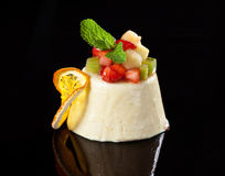 Fresh panna cotta dessert Stock Photo