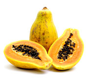 Fresh papaya Royalty Free Stock Photos