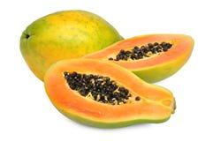 Fresh papaya. Isolated on white background Stock Images