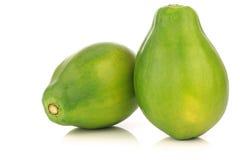Fresh papaya fruits. On a white background Stock Image