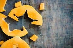 Fresh papaya. Fresh ripe papaya on wooden background Stock Image