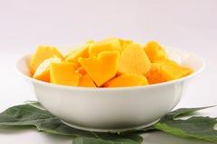 Fresh papaya slices . royalty free stock photo