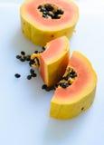 Fresh Papaya slices Stock Photos