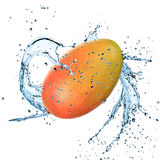 Fresh papaya with water splash Stock Photography