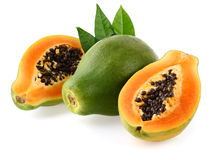 Fresh papaya Stock Images