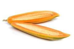 Fresh papaya on white background. Royalty Free Stock Image