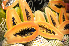 Fresh papayas Royalty Free Stock Image