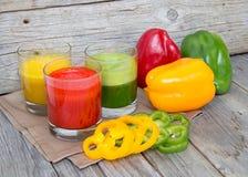 Fresh paprika smoothie juice Stock Photography
