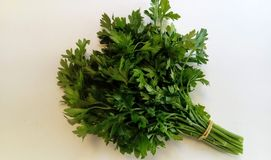 Fresh parsley on a light background. Spicy plant used in the kitchen Royalty Free Stock Photography