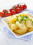 Fresh parsley potatoes Stock Photos