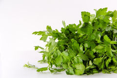 Fresh parsley White Background Vegetable. Vegetables Food Concept and Decoration Stock Photo
